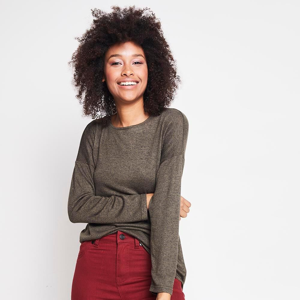 Sweater Jaspeado Largo Mujer Rolly Go image number 0.0
