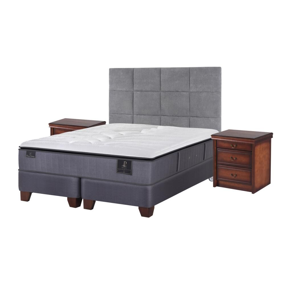 Box Spring Cic Premium / King / Base Dividida  + Set De Maderas image number 1.0