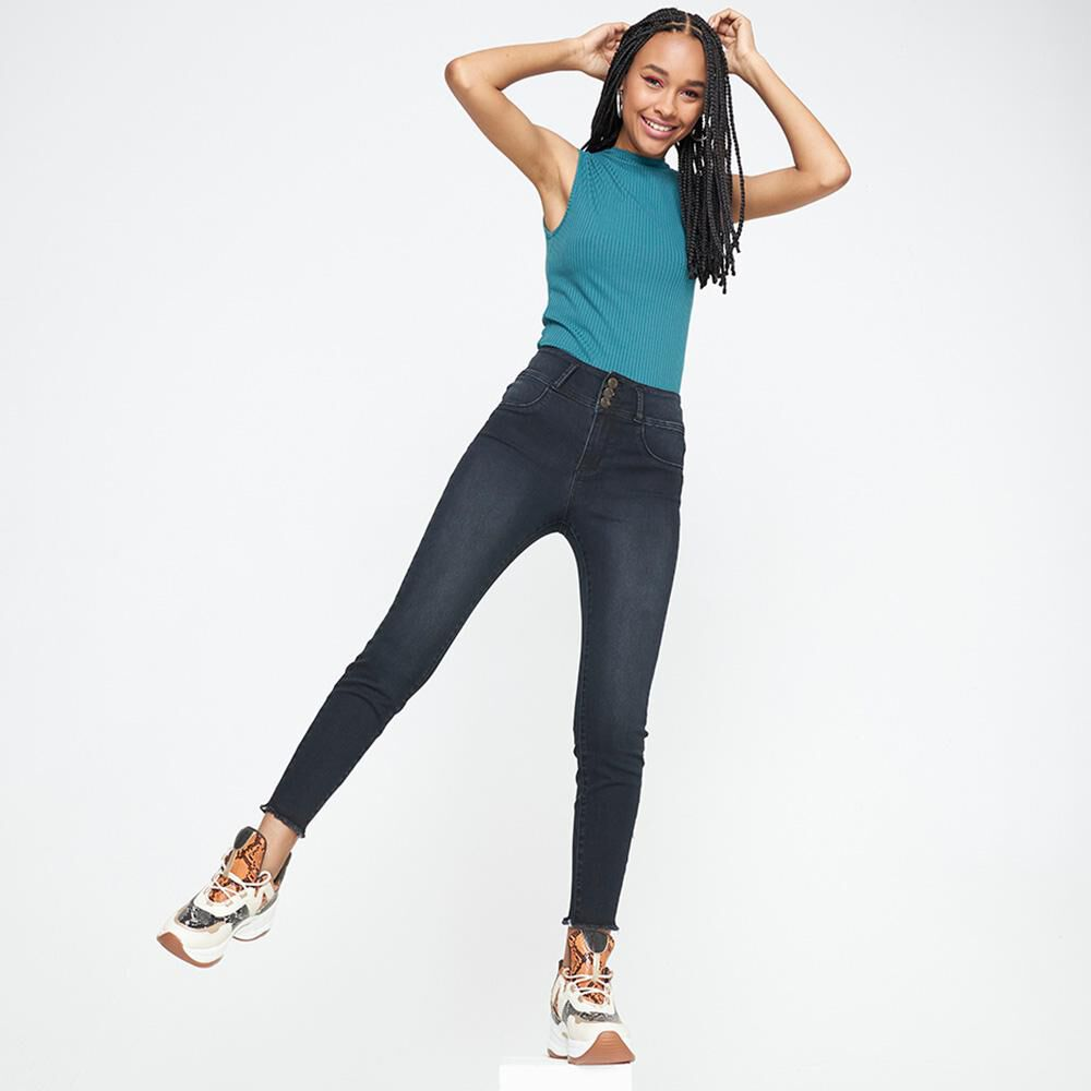 Jeans Mujer Tiro Alto Push Up Rolly Go image number 1.0
