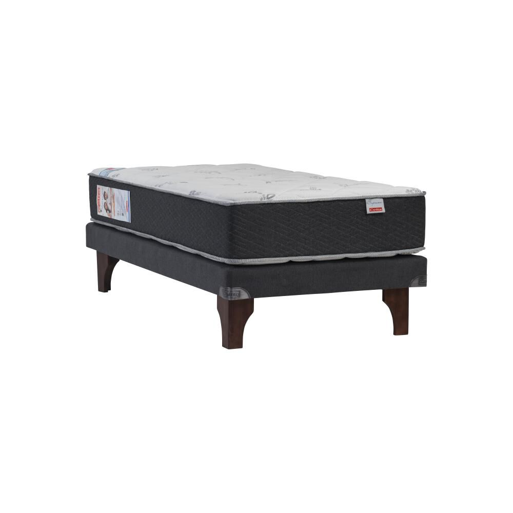 Cama Europea Celta Supreme / 1 Plaza / Base Normal