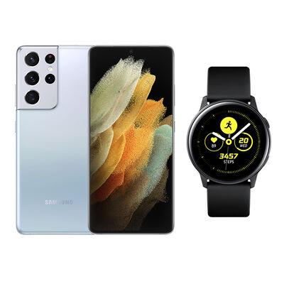 Smartphone Samsung S21 Ultra Phantom Silver + Galaxy A21S