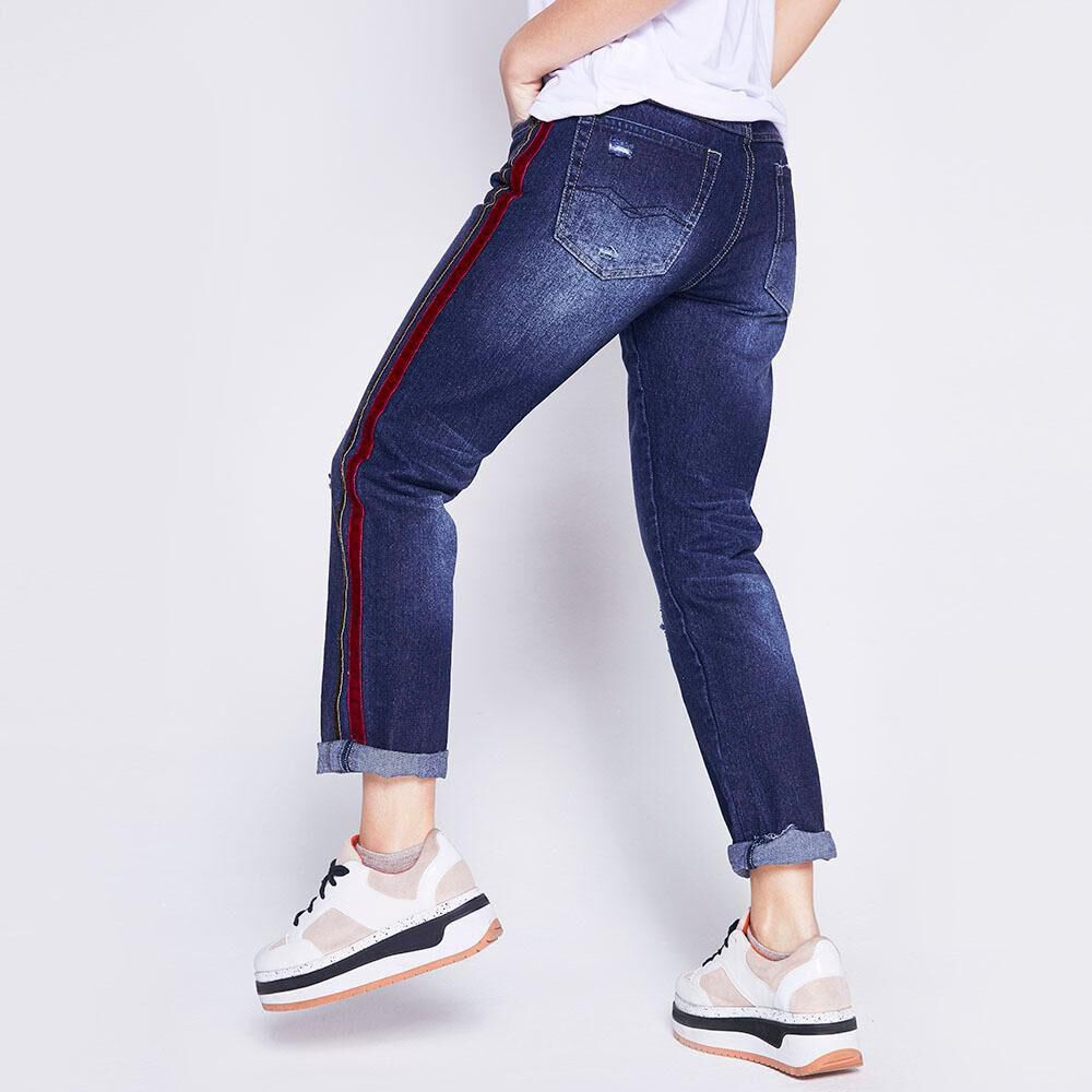 Jeans Mujer Boyfriend Lineas Laterales Freedom image number 2.0