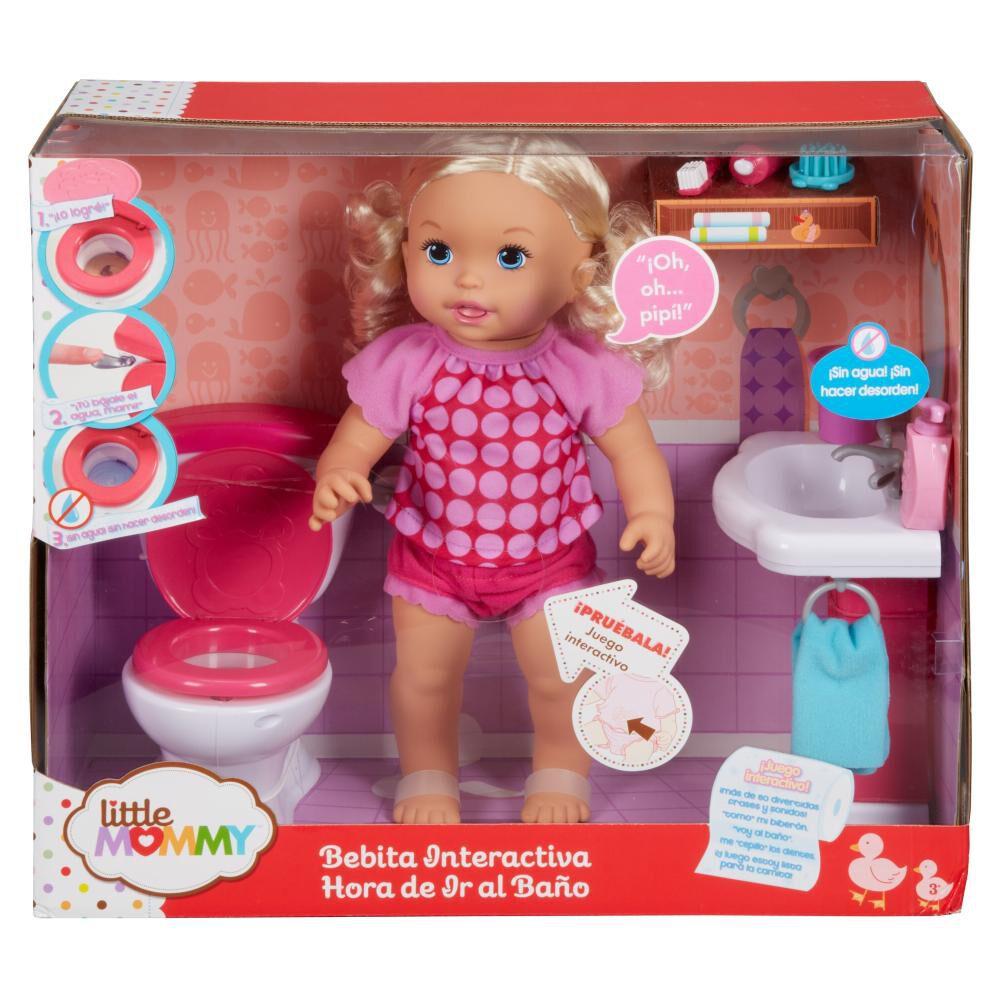 Muñeca Little Mommy Hora De Ir Al Baño image number 2.0