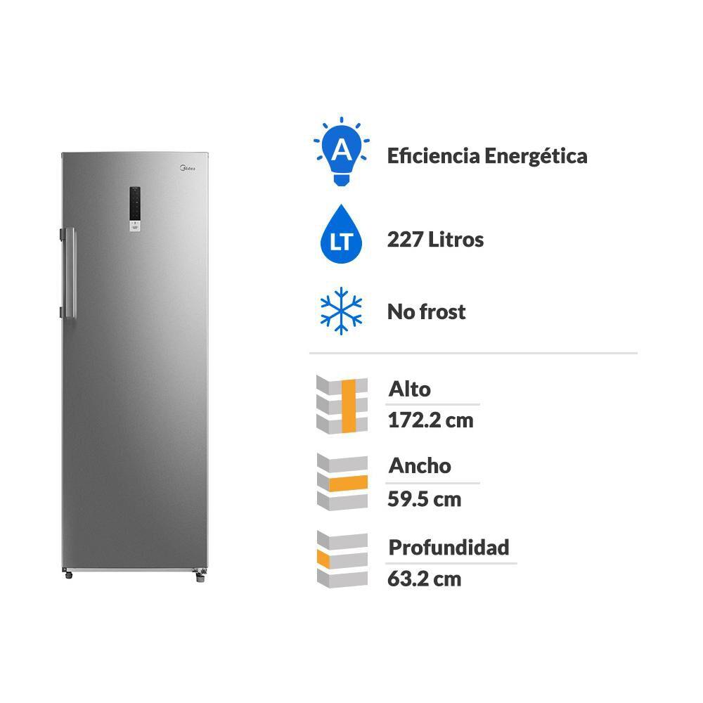 Freezer Vertical Midea MFV-2400S312FW / No Frost / 227 Litros image number 1.0