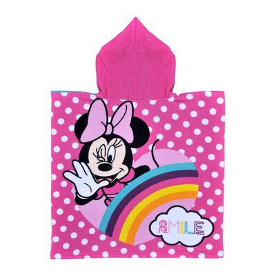 Toalla Playa Capucha Minnie Rainbow