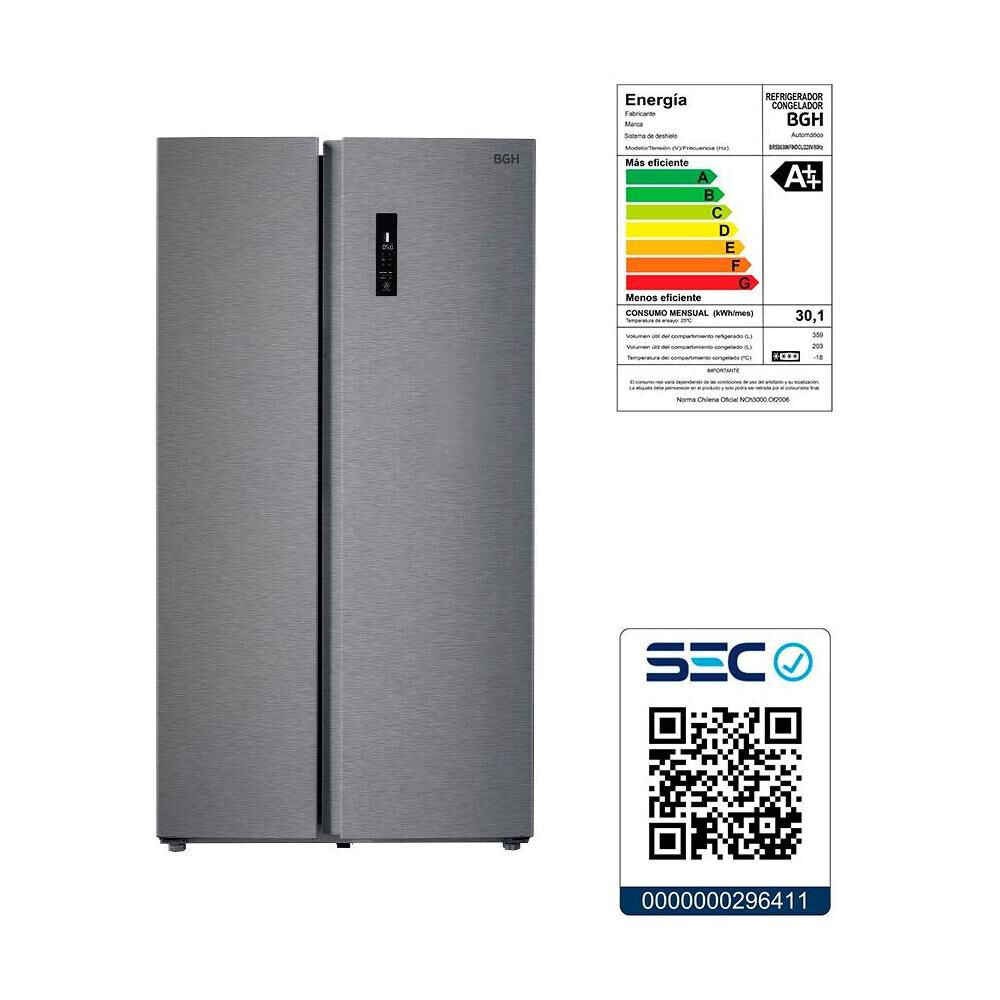 Refrigerador Side By Side BGH BRSS630 / No Frost / 562 Litros image number 4.0