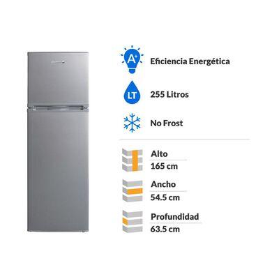 Refrigerador Top Freezer Sindelen RDNF-2570IN / No Frost / 255 Litros