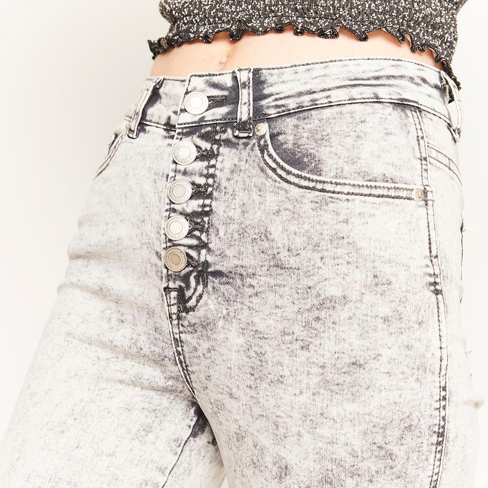 Jeans Botones Tiro Alto Super Skinny Mujer Freedom image number 4.0