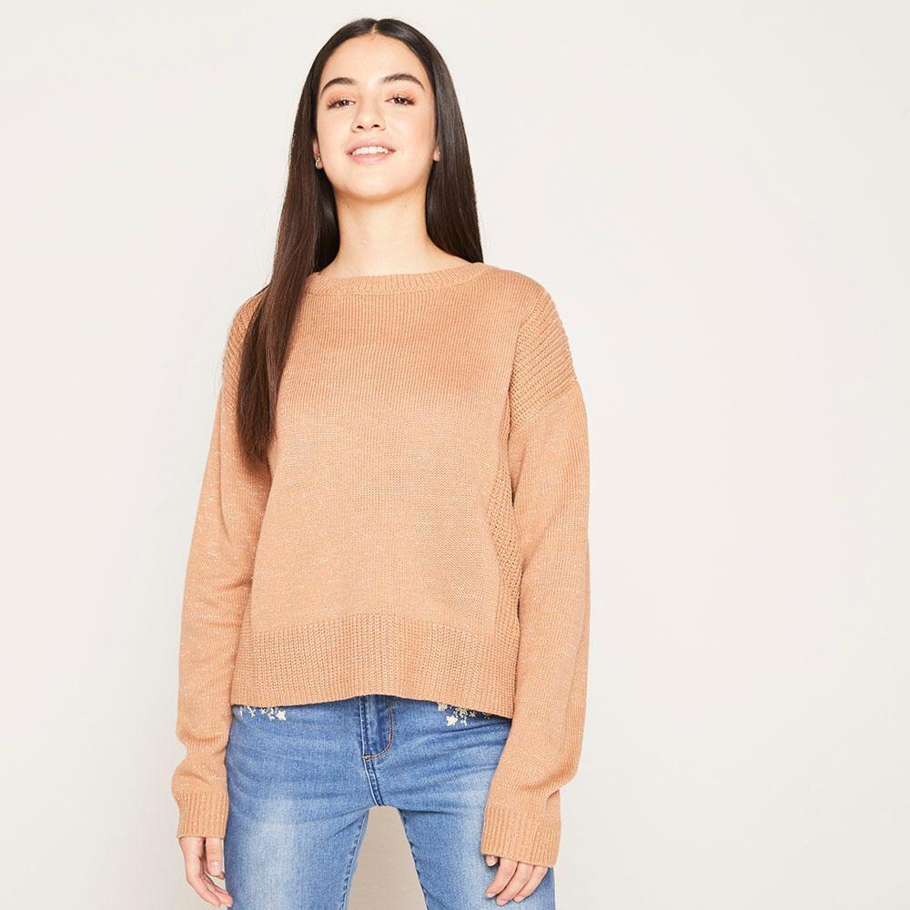 Sweater Lurex Regular Fit Cuello Redondo Mujer Freedom image number 0.0