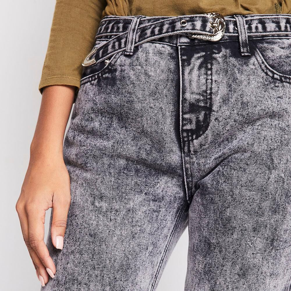 Jeans Mujer Tiro Medio Recto Rolly go image number 3.0