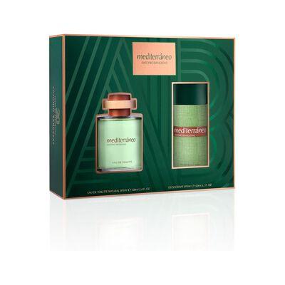 Estuche Antonio Bandera Mediterraneo 100Ml Edp + Desodorante 150Ml