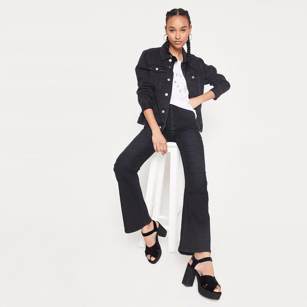 Jeans Mujer Tiro Alto Flare Rolly go image number 1.0
