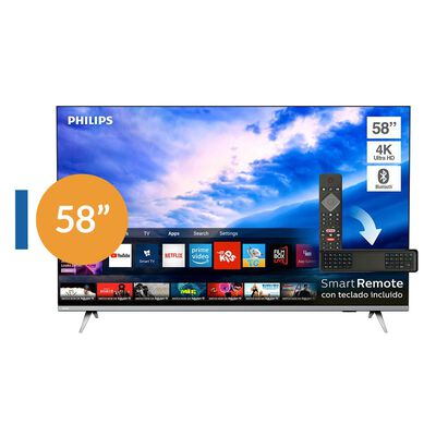 Led Philips 58PUD6654 / 58'' / 4K Ultra HD / Smart TV Bordes Ultradelgados