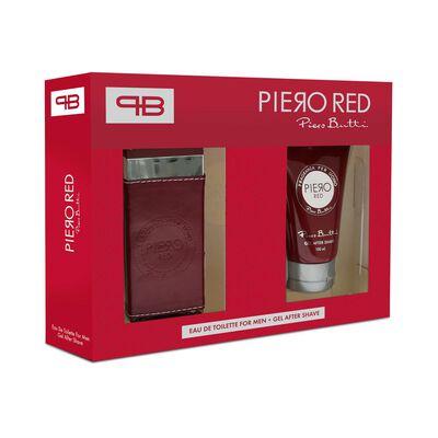 Perfume Red Piero Butti / 100 Ml / Eau De Toillete + Gel After Shave / 100 Ml