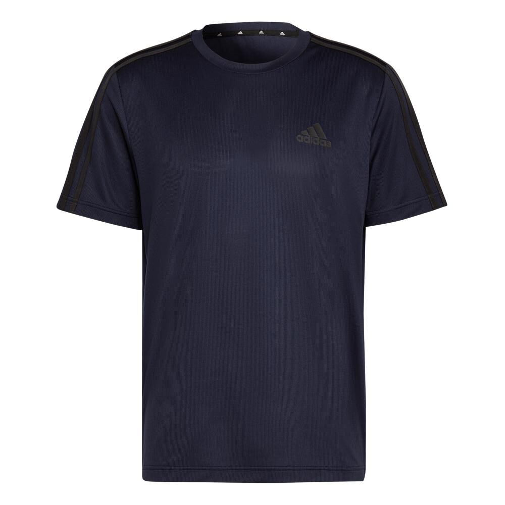 Polera Hombre Adidas Aeroready Designed To Move Sport 3 Bandas image number 9.0
