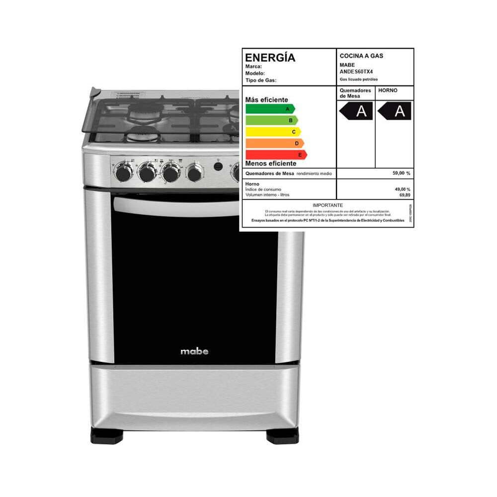 Cocina Mabe ANDES60TX4 / 4 Quemadores image number 7.0