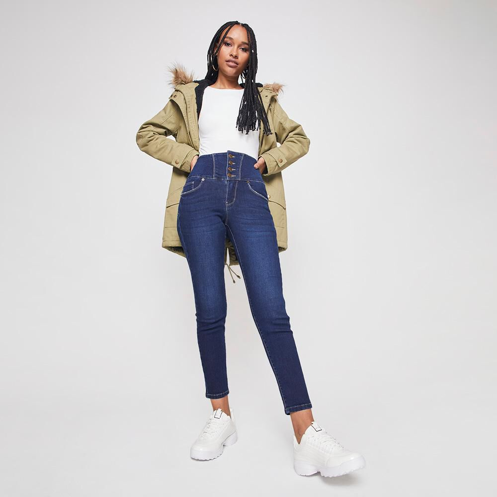 Jeans Mujer Tiro Alto Sculpture Rolly Go image number 1.0