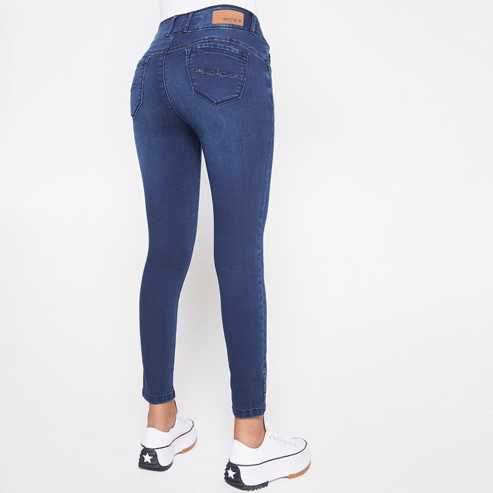 Jeans Mujer Tiro Alto Almohadilla Rolly Go image number 2.0
