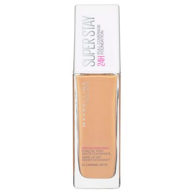 Base Maquillaje Maybelline Super Stay 24H Full Coverage  / 51 Caramel Beige
