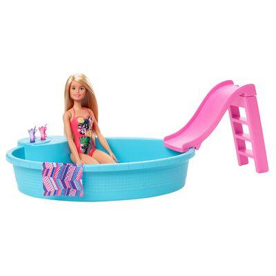 Muñeca Barbie Piscina Glam Con Muñeca