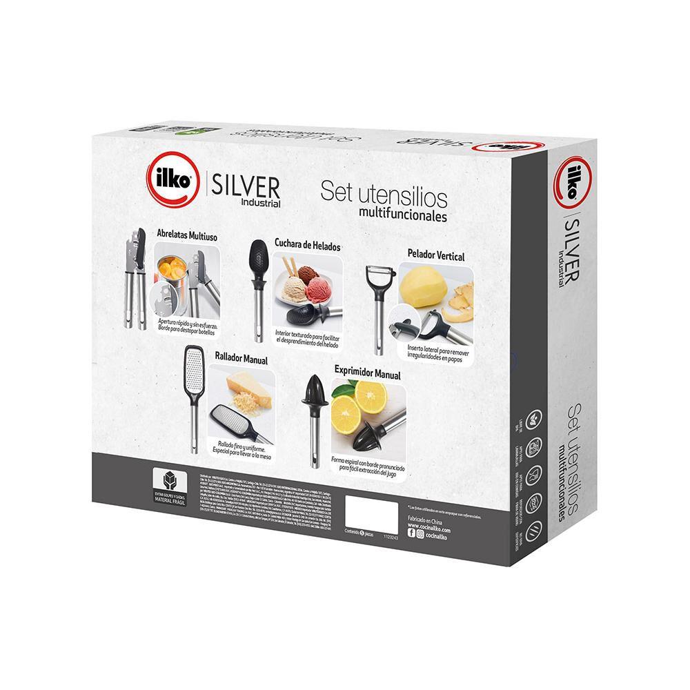 Set De Utensilios De Cocina Ilko Silver Indistrial / 5 Piezas image number 1.0