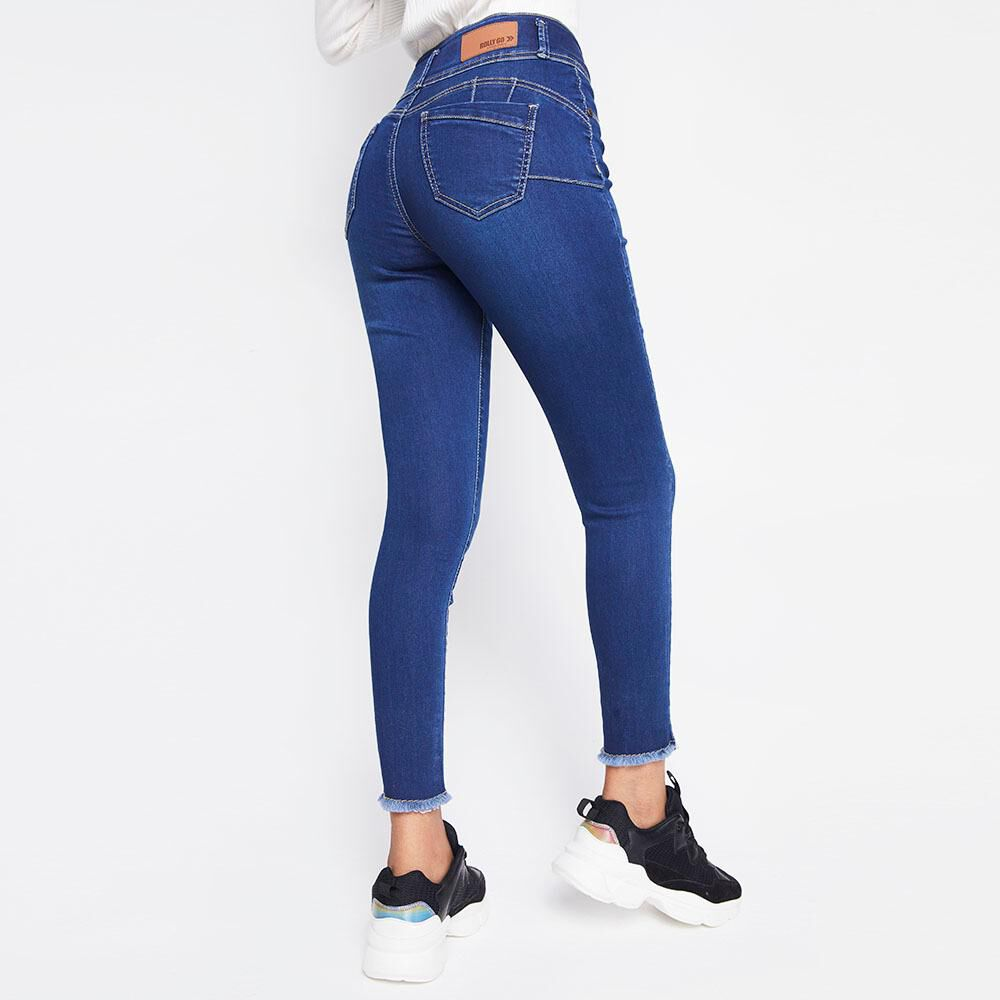 Jeans Mujer Tiro Alto Skinny Push up Rolly go image number 2.0
