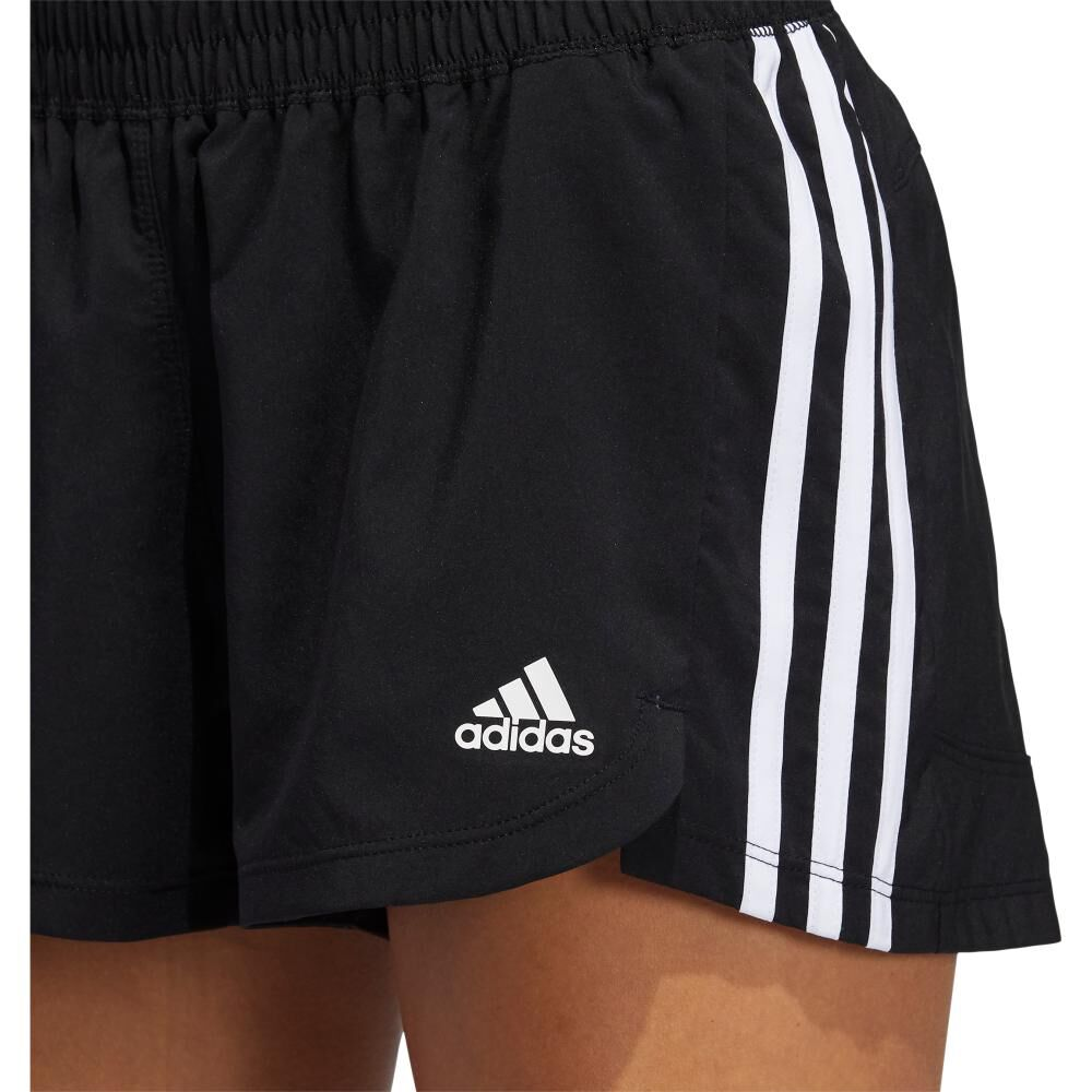Short Deportivo Mujer Adidas Woven Pacer 3 Bandas image number 2.0