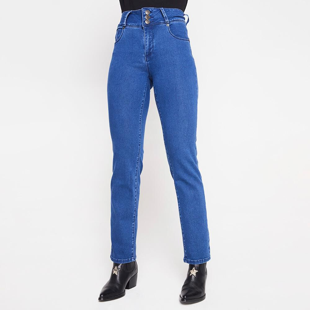 Jeans Mujer Tiro Alto Push Up Geeps image number 0.0