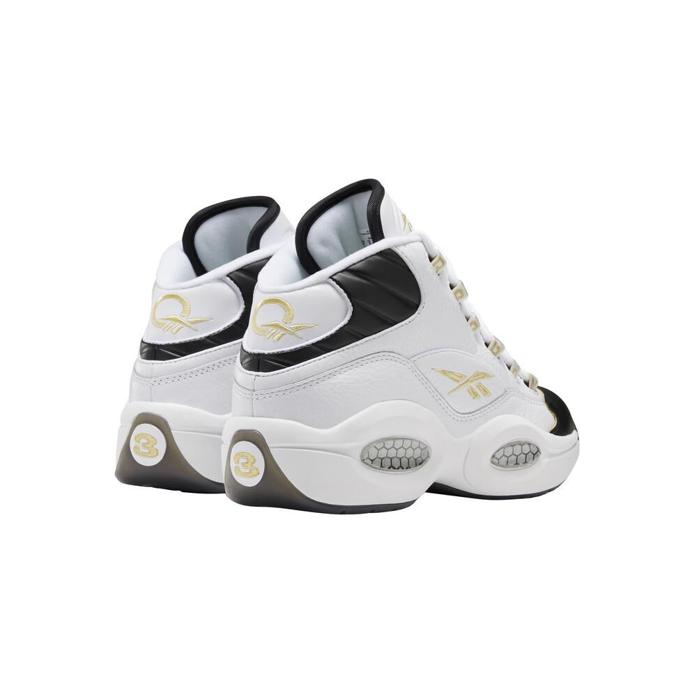 Zapatilla Basketball Hombre Reebok Question Mid Black Toe image number 2.0