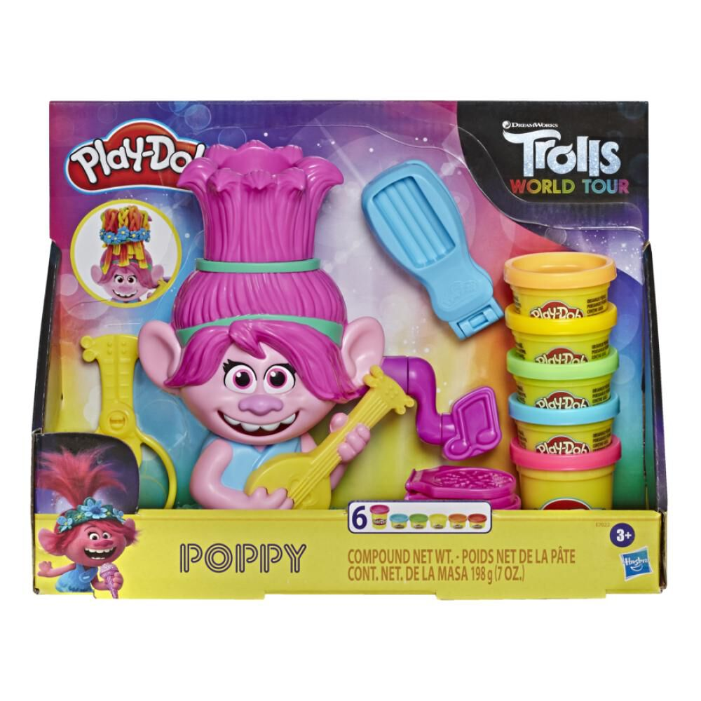 Masas Educativas Play Doh Trolls Poppy Cabello image number 0.0