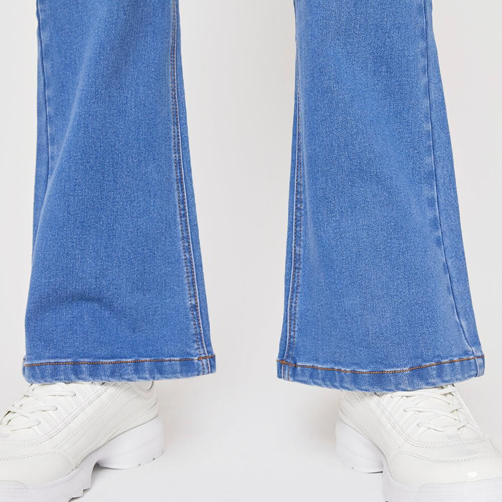 Jeans Tiro Alto Flare Mujer Rolly Go image number 5.0