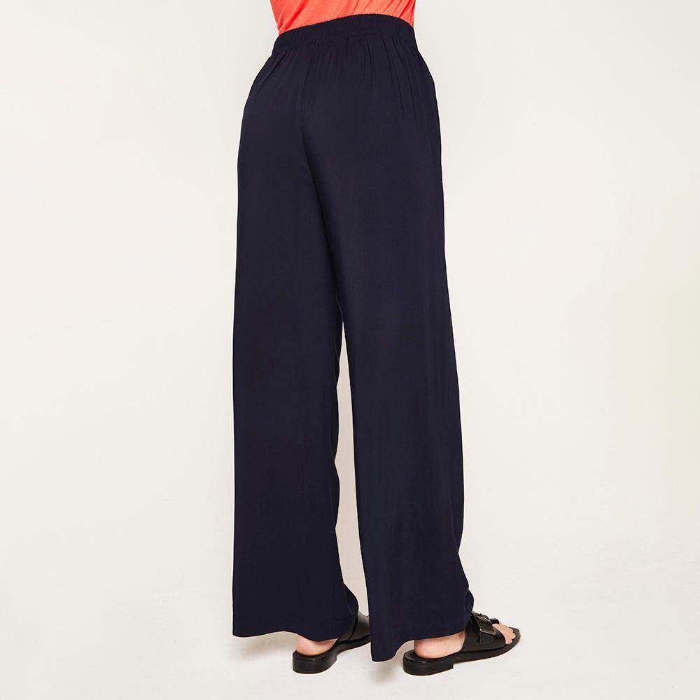 Pantalón Pretina Elástico Y Cinturón Tiro Medio Recto Mujer Kimera image number 2.0