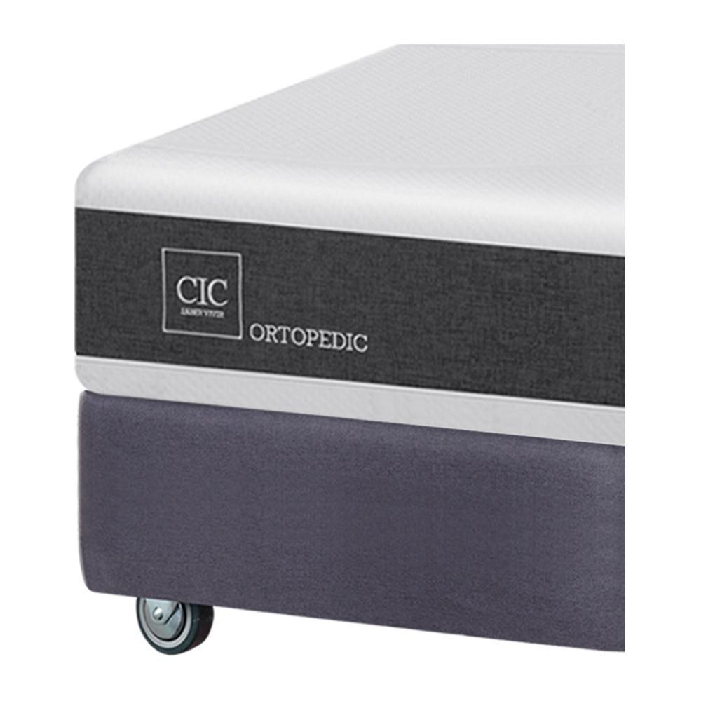 Box Spring Cic Ortopedic / King / Base Dividida  + Set De Maderas image number 3.0