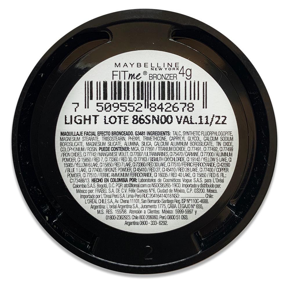 Polvo Bronceante Maybelline Fit Me Bronzer Light image number 3.0
