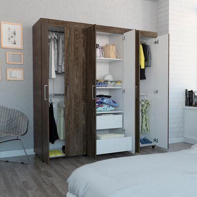 Closet Tuhome Amatista/ 6 Puertas/ 2 Cajones
