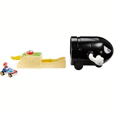 Autopista De Juego Hotwheels Mario Kart Lanzador Bullet Bill