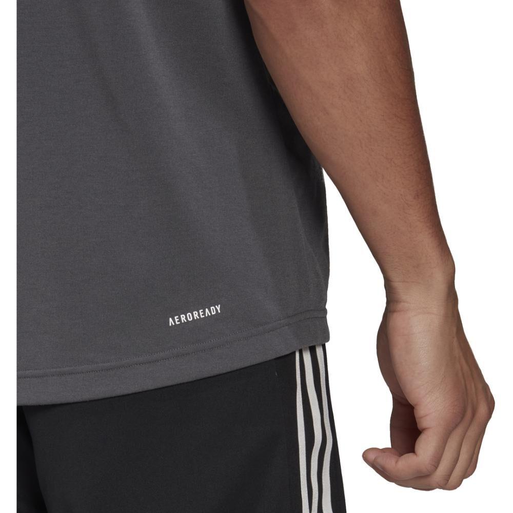 Polera Hombre Adidas D2m Feelready Logo T-shirt image number 4.0