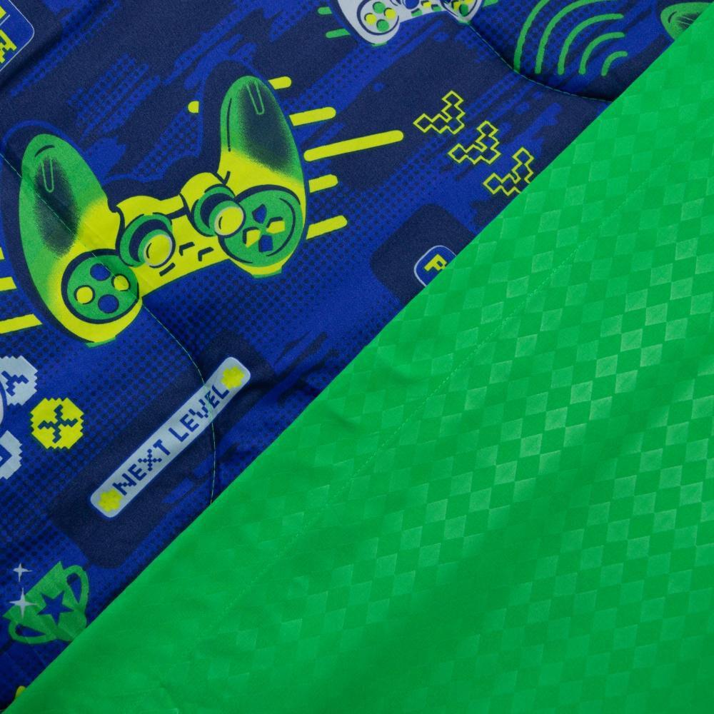 Set Plumón + Juego De Sábanas Casaideal Kids Gamer / 1.5 Plazas + 2 Fundas De Almohada De 50x70 Cm image number 2.0