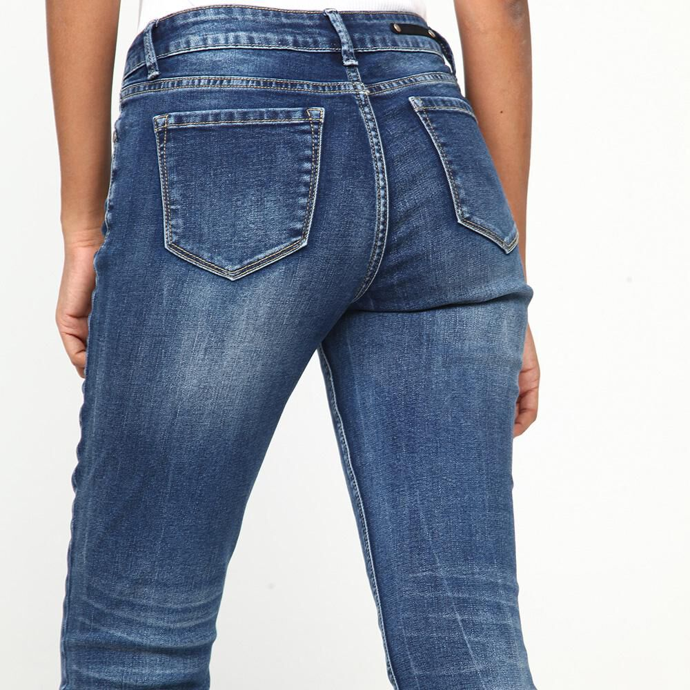 Jeans Mujer Tiro Medio Skinny Rolly go image number 3.0