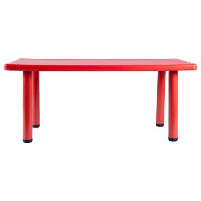 Mesa De Juegos Talbot Rectangular Rojo