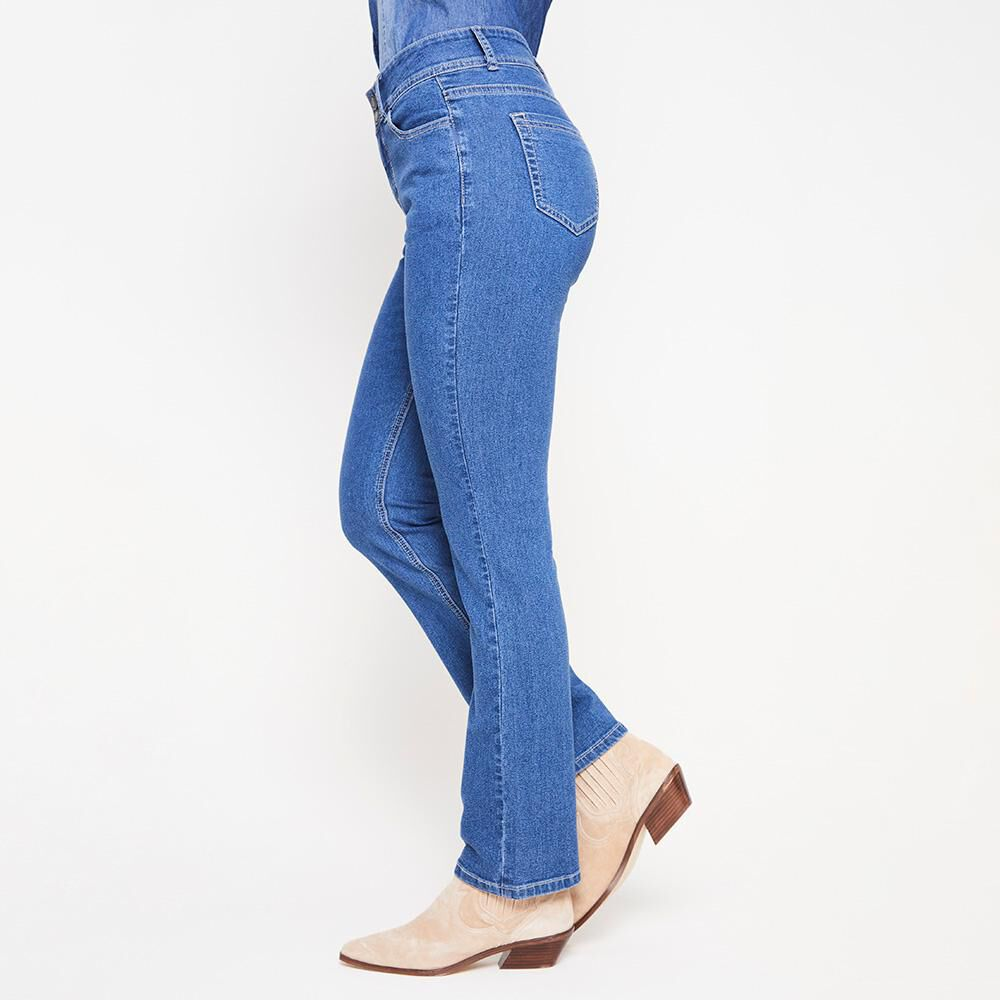 Jeans Mujer Tiro Alto Regular Geeps image number 4.0
