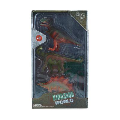Set De Juguetes Hitoys Dinosaurios Pack 3 Basico