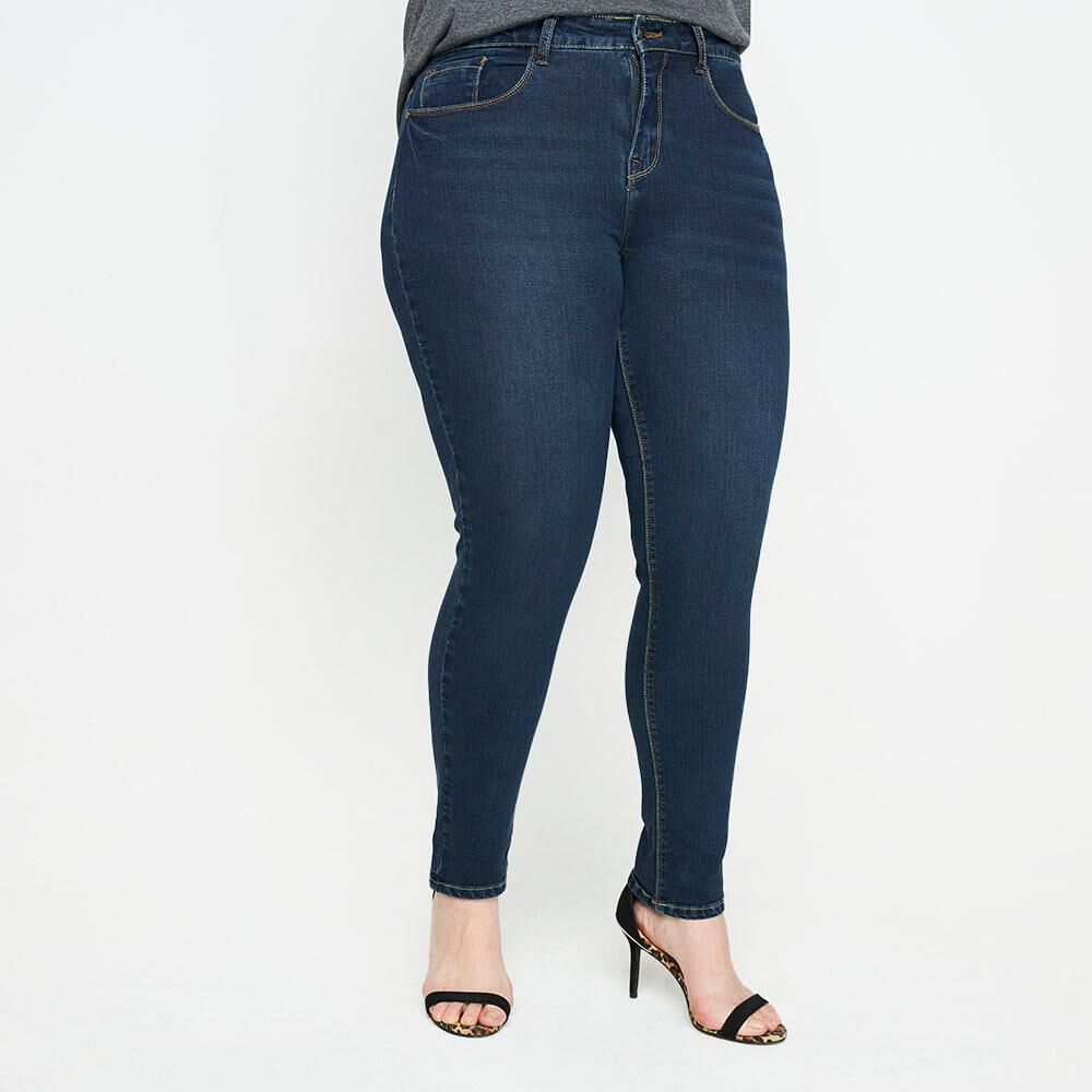 Jeans Tiro Alto Recto Mujer Sexy Large image number 0.0