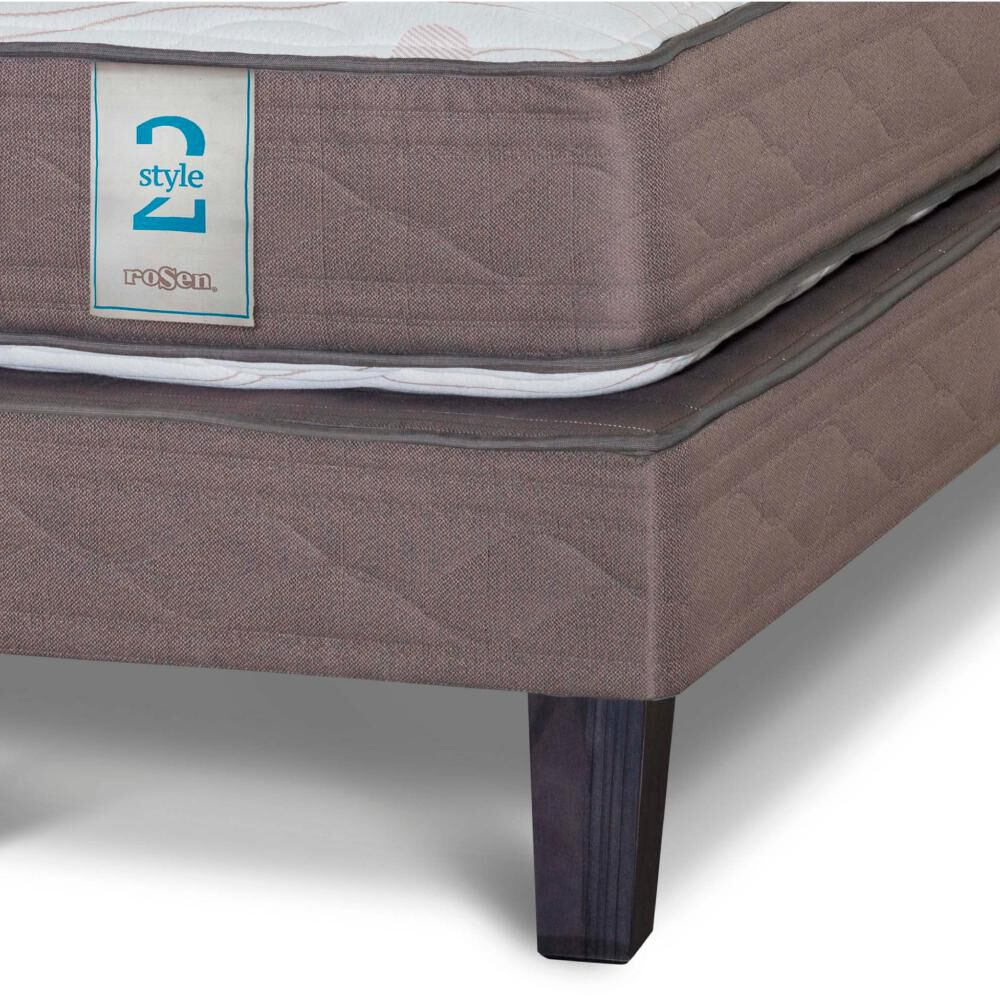 Cama Europea Rosen New Style 2 / 1.5 Plazas / Base Normal + Set de Maderas image number 2.0