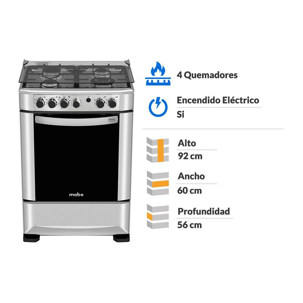 Cocina Mabe ANDES60TX4 / 4 Quemadores image number 8.0
