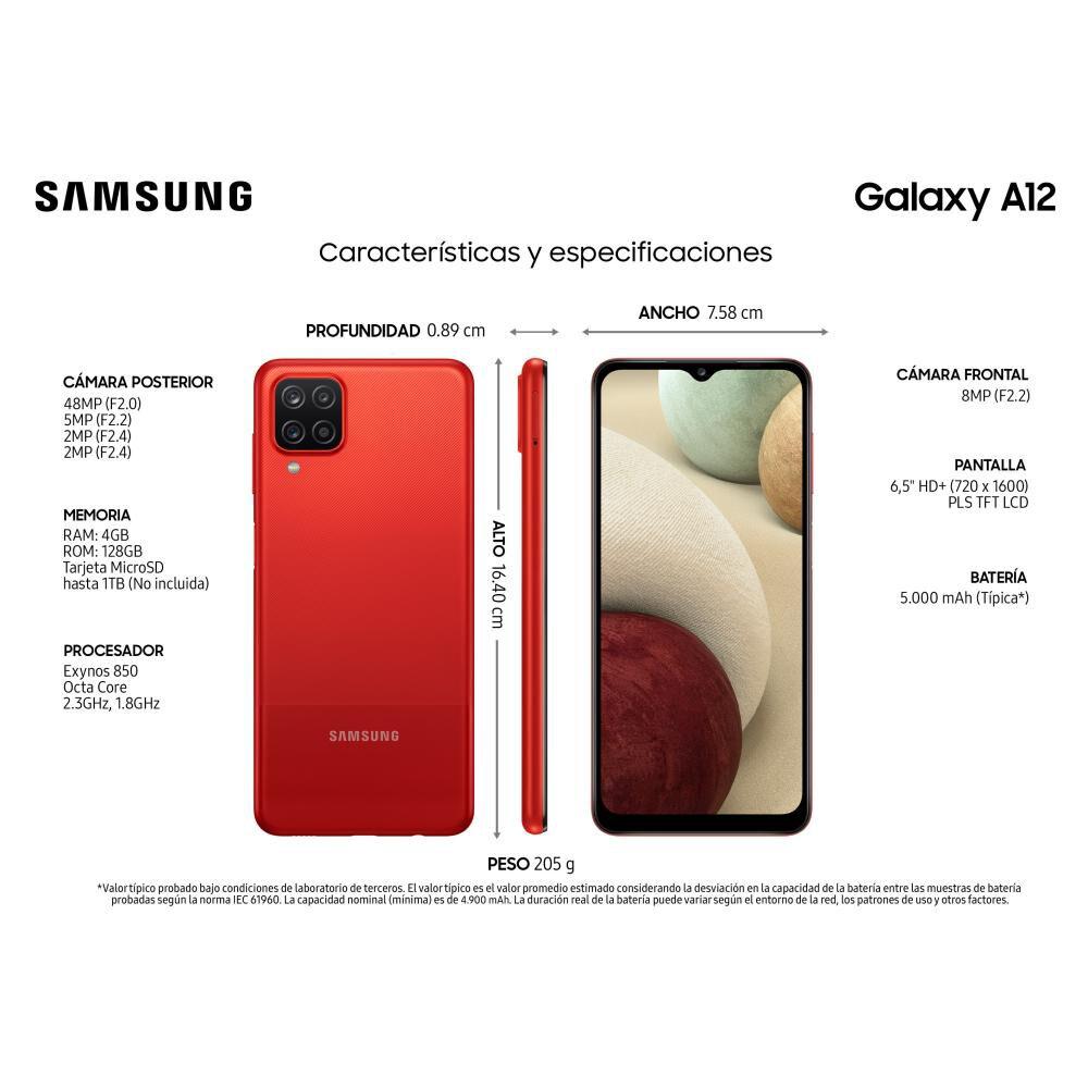 Smartphone Samsung Galaxy A12 Rojo / 128 Gb / Liberado image number 2.0