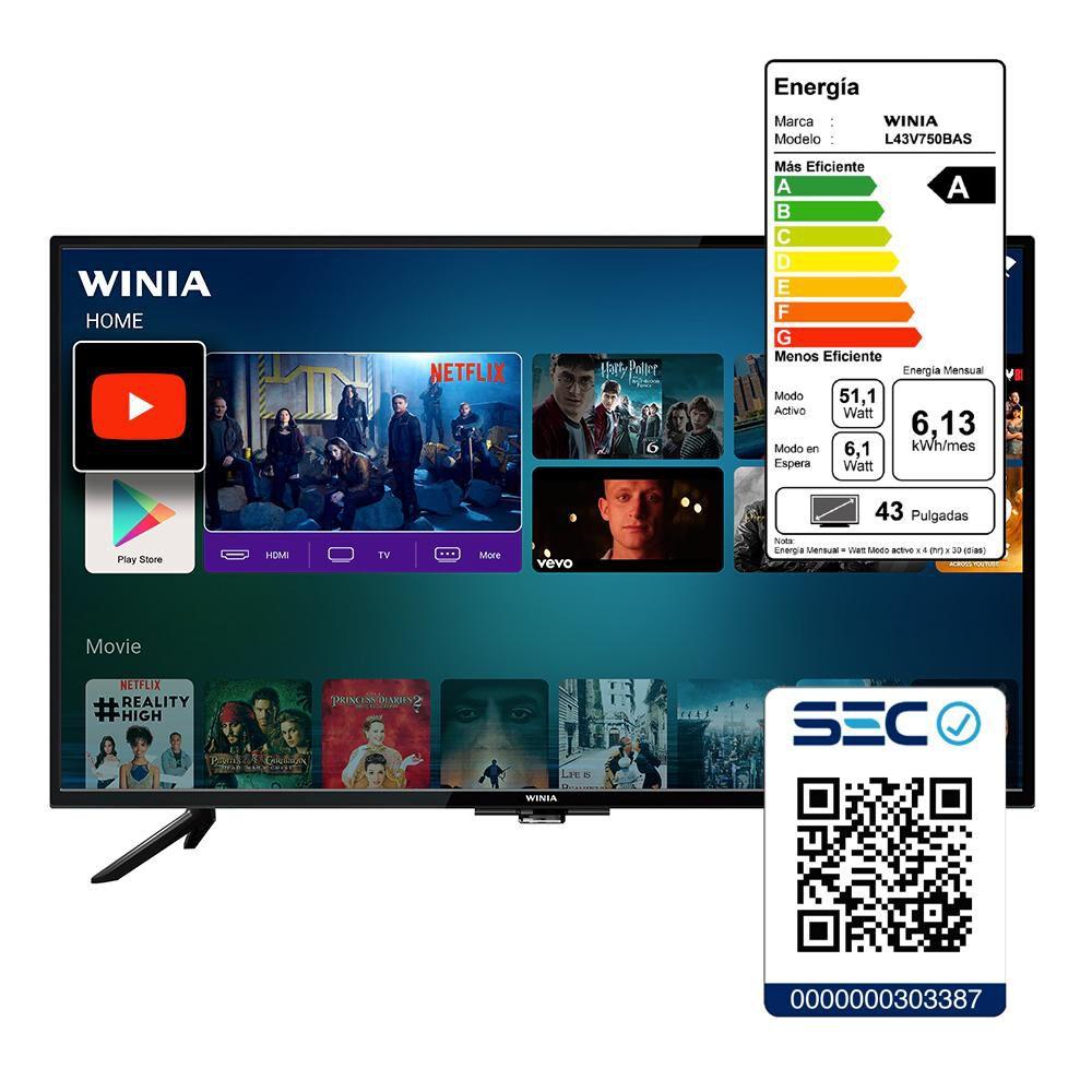 "Led WINIA L43V750BAS / 43"" / Full Hd / Smart Tv image number 3.0"
