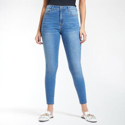 Jeans Mujer Tiro Alto Skinny Push Up Kimera