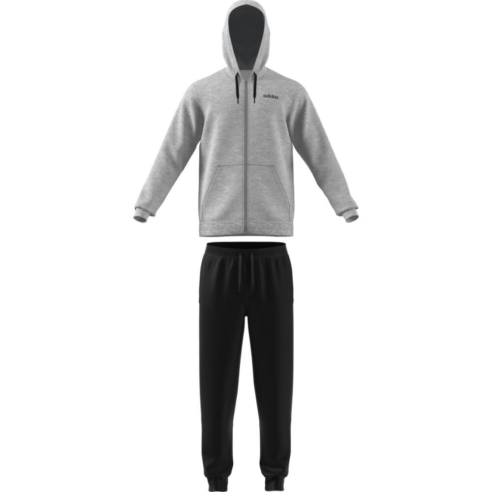 Buzo Con Capucha Hombre Adidas Linear French Terry image number 4.0