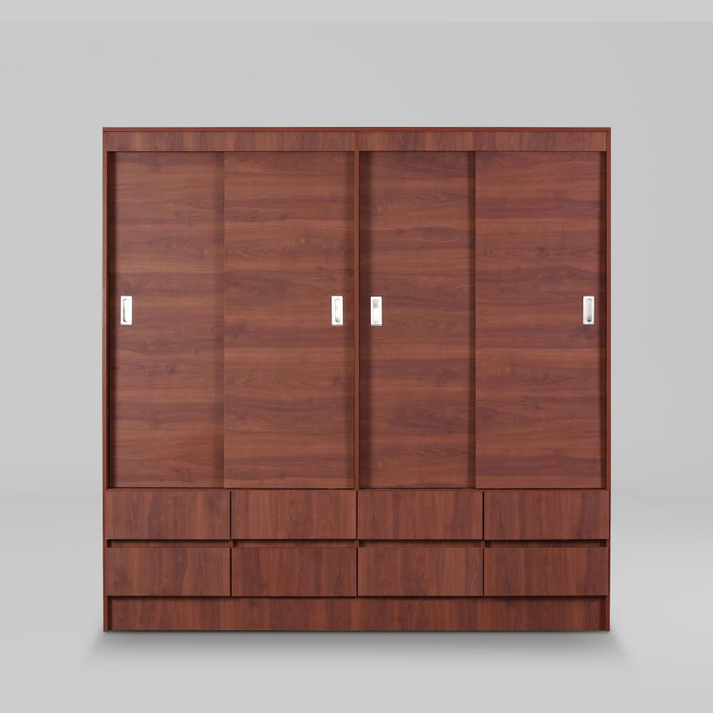 Closet Cic Mel. Cerezo 15 Mm. / 4 Puertas / 8 Cajones image number 0.0